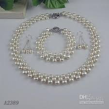 silver pearl necklace set images Pearl necklace bracelet and earring set jonquil swarovski and jpg