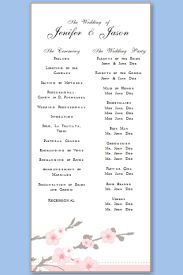 wedding programs template free wedding program templates free printable wedding program templates