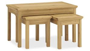 nest of coffee tables from the provence oak range ahf