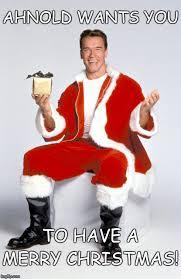 Merry Xmas Meme - festive ahnold imgflip