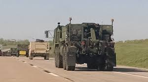 military transport vehicles massive military convoy spotted headed towards texas i have never