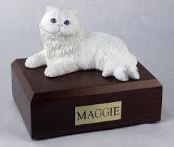 cat cremation cat cremation figurine urn w wooden storage box