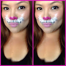 halloween cat eye contacts 21 easy diy halloween makeup looks bunny makeup bunny and