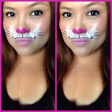 21 easy diy halloween makeup looks bunny makeup bunny and