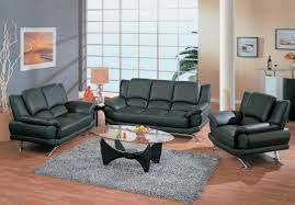 Contemporary Living Room Sets Contemporary Living Room Set In Black Red Or Cappuccino Leather