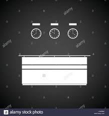Reception Desk Black by Office Reception Desk Icon Black Background With White Vector