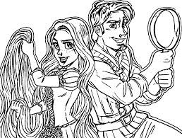 rapunzel flynn coloring pages wecoloringpage