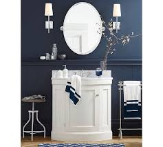 brinkley demilune single sink console white pottery barn