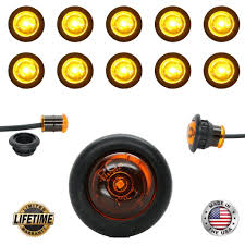 10 3 4 led clearance marker bullet grommet lights