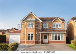 House With Garage Beautiful English House Garage Exclusive Housing Stock Photo