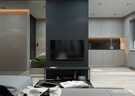 Tv Divider Cabinet Design 5 Small Studio Apartments With Beautiful Design