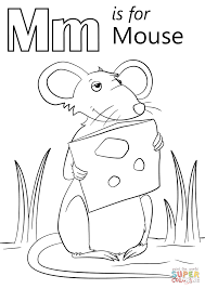 m is for mouse coloring page free printable coloring pages