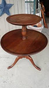 antique round coffee table antique two tier serving round side table walnut beautiful