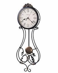 Howard Miller Chiming Mantel Clock Howard Miller Wall Clock In Wrought Iron Metal Pendulum 625295 Melinda