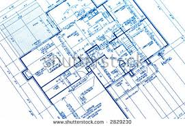 house plan blueprints house plan blueprints new housing development stock photo 2829230