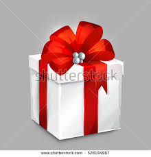 big present bow wrapped gift box big satin bow stock vector 526194967