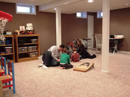 amazing of basement floor finishing ideas with unfinished basement