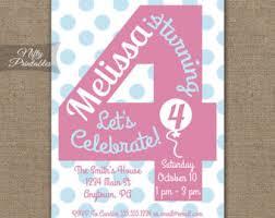 4th birthday invitations cimvitation