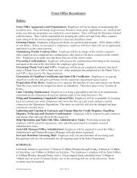 Receptionist Jobs Resume by Receptionist Cover Letter Resume Template 2017