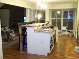 Create A Cart Kitchen Island Charming How To Build A Kitchen Island With Breakfast Bar Adding
