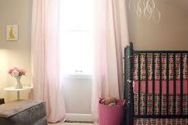 Gray And Pink Curtains Light Gray Nursery Ideas