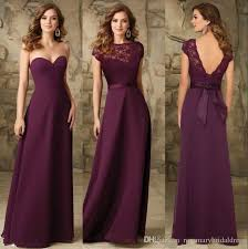 wedding dresses for of honor chic grape chiffon bridesmaids dresses backless cheap