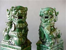 choo foo dogs antique ceramic foo dogs qing dynasty large foo dog