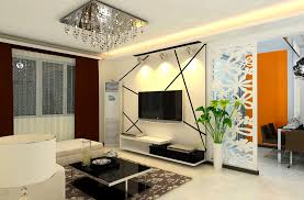 Tv On Wall Ideas by Perfect Living Room Colour With Square Crystal Chandelier And Tv