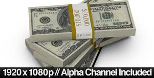 100 bills fall into a stack alpha channel 478679 templates
