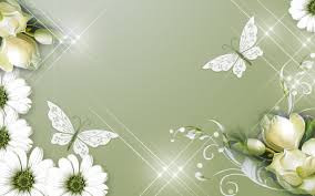 flowers and butterflies beautiful spring background