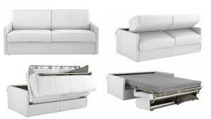 canapé lit en cuir magnifique canapé convertible 2 places cuir décoration française