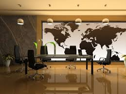 decorate the walls in the interior area by installing the world