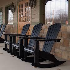 Composite Adirondack Rocking Chairs Chic Polywood Adirondack Rocking Chair Polywood Rocking Chairs