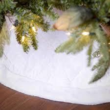 white tree skirt buy nest noel 48 quot white quilted velvet tree skirt with