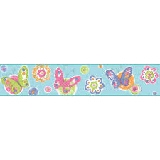 home wallcoverings u003e borders u003e children u003e butterflies wallpaper