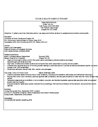 history major resume first year student sample resume free download