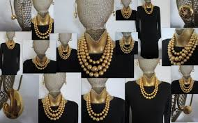 bead necklace gold images The linea gold bead necklace louis dell 39 olio jpg