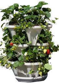 Self Watering Vertical Garden Flower Tower Freestanding Planter 3 Feet Amazon Ca Patio Lawn