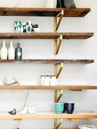 cup half full rustic wood shelf diy using ikea ekby lerberg