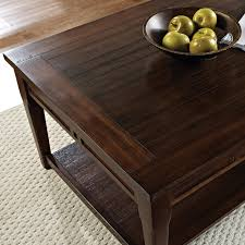 Flip Top Coffee Table by Steve Silver Crestline Rectangle Distressed Walnut Wood Lift Top