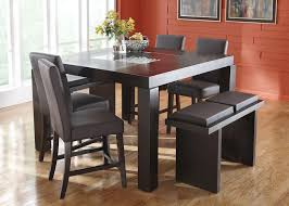 Dining Room Furniture Indianapolis Broadway 5 Pc Brwn Cntr Hgt Dinette Brown Dining Sets Dining