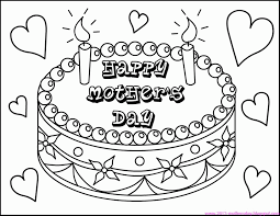 printable mothers day cards for to color coloring home