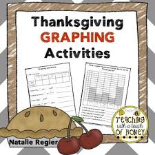 thanksgiving graphing activities by teaching with a touch of honey