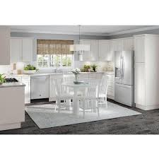 home depot white kitchen base cabinets cambridge shaker assembled 36x34 5x24 5 in sink base cabinet w false drawer front 2 soft doors in white