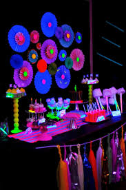 glow in the party decorations blacklight party with a mad scientist or outer space theme