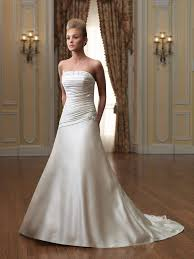 strapless wedding dress strapless wedding dresses with a line dresscab