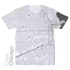 Il Map Citee Fashion Chicago Il Map T Shirt