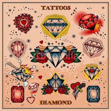 tattoo old school diamond diamond tattoo flash middle one for a chest piece tattoos