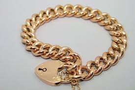 links bracelet rose gold images Edwardian 9ct rose gold curb link bracelet 1231242 goldsmiths jpg