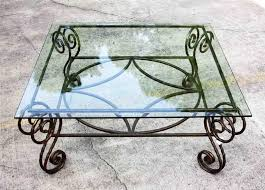 Iron Table Base Coffee Table Antique Wrought Iron Table Bases Copper Round Glass